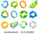 set of different arrows circles ... | Shutterstock .eps vector #111136382