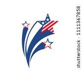 shooting stars. star firework... | Shutterstock .eps vector #1111367858