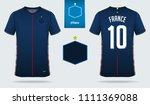 soccer jersey or football kit... | Shutterstock .eps vector #1111369088