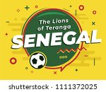 speech bubble word senegal with ... | Shutterstock .eps vector #1111372025