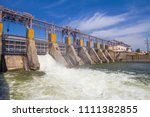 hydro power plant in dubossary  ... | Shutterstock . vector #1111382855