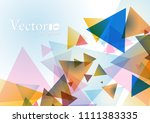abstract geometric background... | Shutterstock .eps vector #1111383335