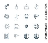 heat icon. collection of 16...   Shutterstock .eps vector #1111383926