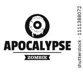 zombie terror logo. simple...   Shutterstock . vector #1111388072
