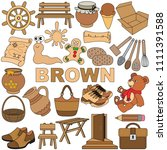 brown objects color elements... | Shutterstock .eps vector #1111391588