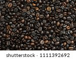 roasted coffee beans  coffee...   Shutterstock . vector #1111392692