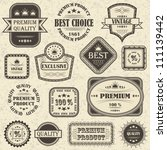 vector set of retro labels and... | Shutterstock .eps vector #111139442