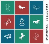 stallion icon. collection of 9... | Shutterstock .eps vector #1111395455
