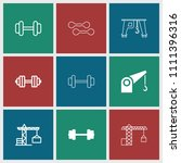 lifting icon. collection of 9... | Shutterstock .eps vector #1111396316