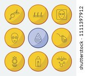 cosmetology icons set with... | Shutterstock .eps vector #1111397912