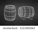 Wooden Barrels Of Wine Or Beer. ...