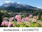 cortina d'ampezzo  dolomite ... | Shutterstock . vector #1111402772