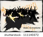 abstract grunge music background | Shutterstock .eps vector #111140372