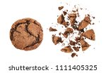 crumbled cookies with chocolate | Shutterstock . vector #1111405325