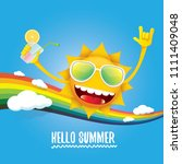 hello summer rock n roll vector ... | Shutterstock .eps vector #1111409048