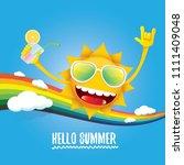 hello summer rock n roll vector ... | Shutterstock .eps vector #1111409048