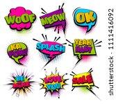 love woof meow ok set hand... | Shutterstock .eps vector #1111416092