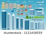 vector big set of city and... | Shutterstock .eps vector #1111418555