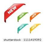 new tag ribbon and banner... | Shutterstock .eps vector #1111419392