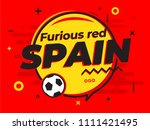 speech bubble spain with icon... | Shutterstock .eps vector #1111421495