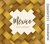 traditional colorful mexican... | Shutterstock .eps vector #1111424552