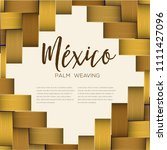 traditional colorful mexican... | Shutterstock .eps vector #1111427096