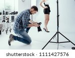 professional photographer... | Shutterstock . vector #1111427576