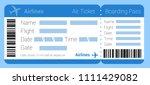 flat design  air ticket icon....