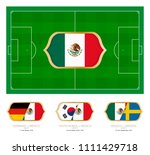 all games by mexico soccer team ... | Shutterstock .eps vector #1111429718