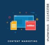content marketing business... | Shutterstock .eps vector #1111433588