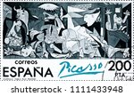 spain   circa 1981  stamp... | Shutterstock . vector #1111433948