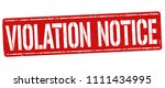 violation notice grunge rubber...   Shutterstock .eps vector #1111434995