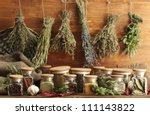 dried herbs  spices and and... | Shutterstock . vector #111143822