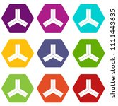 three roads icon set many color ... | Shutterstock . vector #1111443635