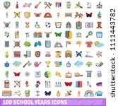 100 school years icons set.... | Shutterstock . vector #1111443782