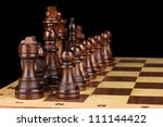 chess board with chess pieces... | Shutterstock . vector #111144422