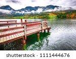 idyllic autumn scene in... | Shutterstock . vector #1111444676