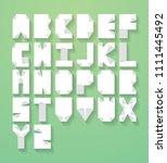 origami typography design vector | Shutterstock .eps vector #1111445492