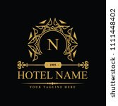 luxury logo template in vector... | Shutterstock .eps vector #1111448402