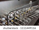 stainless steel tube fitting ... | Shutterstock . vector #1111449116