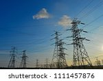 the power supply facilities of... | Shutterstock . vector #1111457876