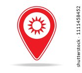 florist map pin icon. element... | Shutterstock .eps vector #1111458452