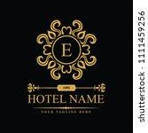 luxury logo template in vector... | Shutterstock .eps vector #1111459256