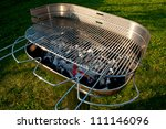 empty barbecue ready to cook... | Shutterstock . vector #111146096