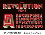 a bold inline vector font... | Shutterstock .eps vector #1111461428