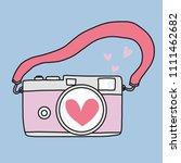 love camera cartoon doodle...   Shutterstock .eps vector #1111462682