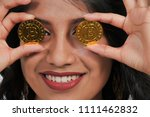 woman holding the electonic... | Shutterstock . vector #1111462832