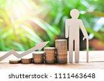 coins saving set increase to... | Shutterstock . vector #1111463648