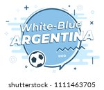 speech bubble argentina with... | Shutterstock .eps vector #1111463705