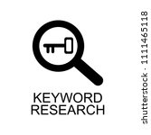 keyword research icon. element...   Shutterstock .eps vector #1111465118